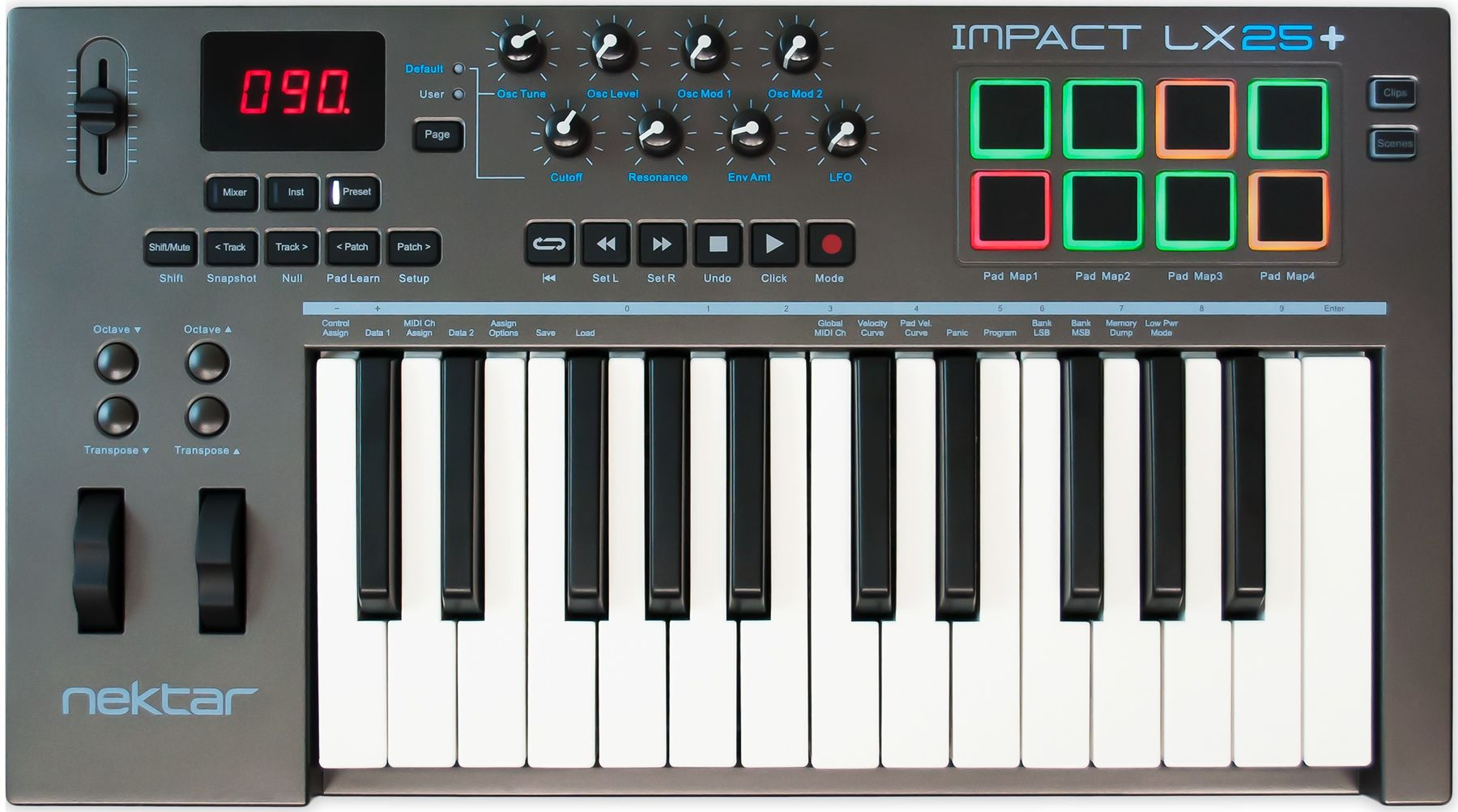 Nektar Impact LX25+ Keyboard Controller | studio wants