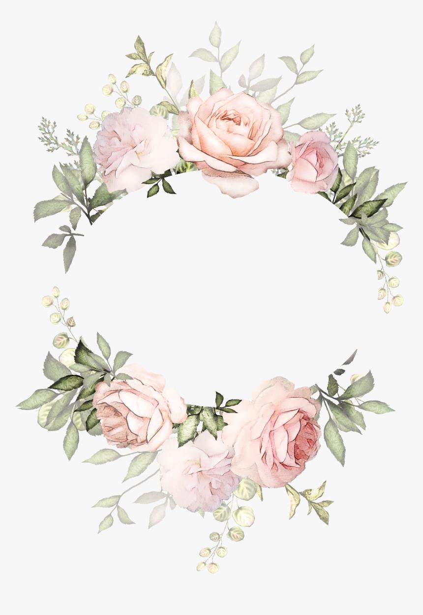Flower Wreath Illustration Design Invitation Floral Transparent Background Floral Frame Hd Png D In 2020 Flower Wreath Illustration Flower Frame Wreath Illustration