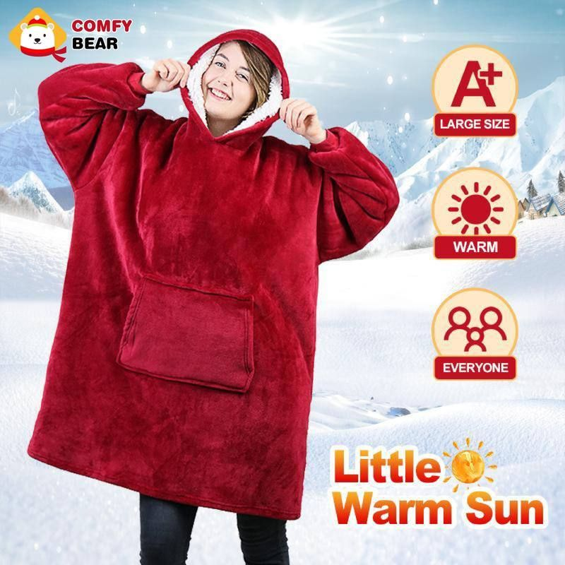 Comfybear Blanket Sweatshirt For Adults Children Wearable Blanket Microfiber Blanket Wearable