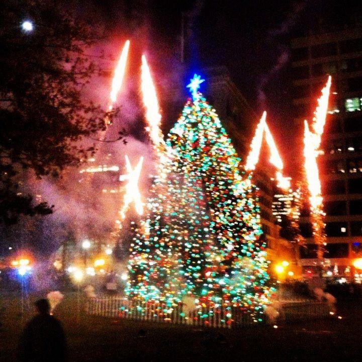 Boston Common Christmas Tree is a glow, thank you Nova Scotia it is beautiful.