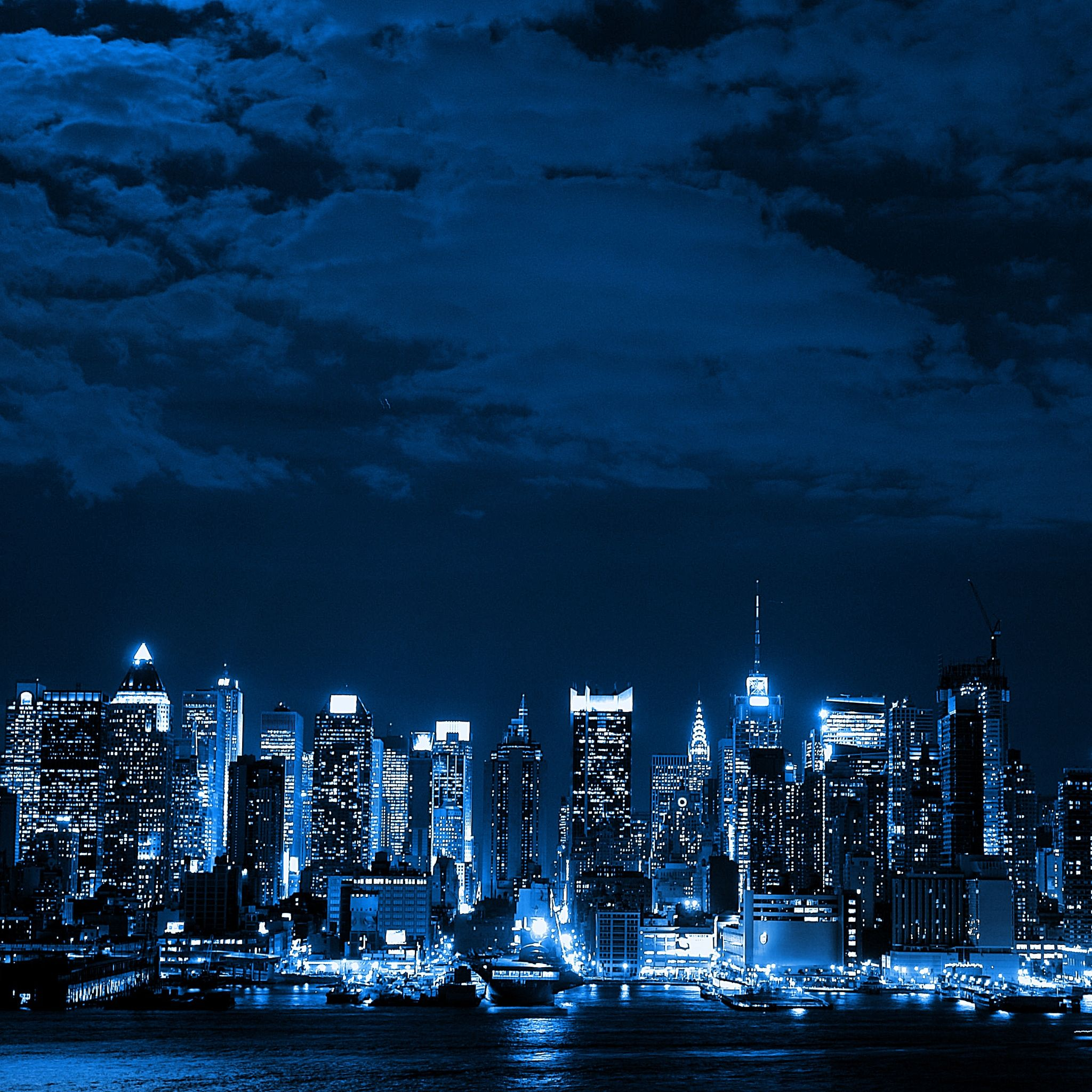 Blue And Black City Cityscape Wallpaper City Wallpaper Blue City