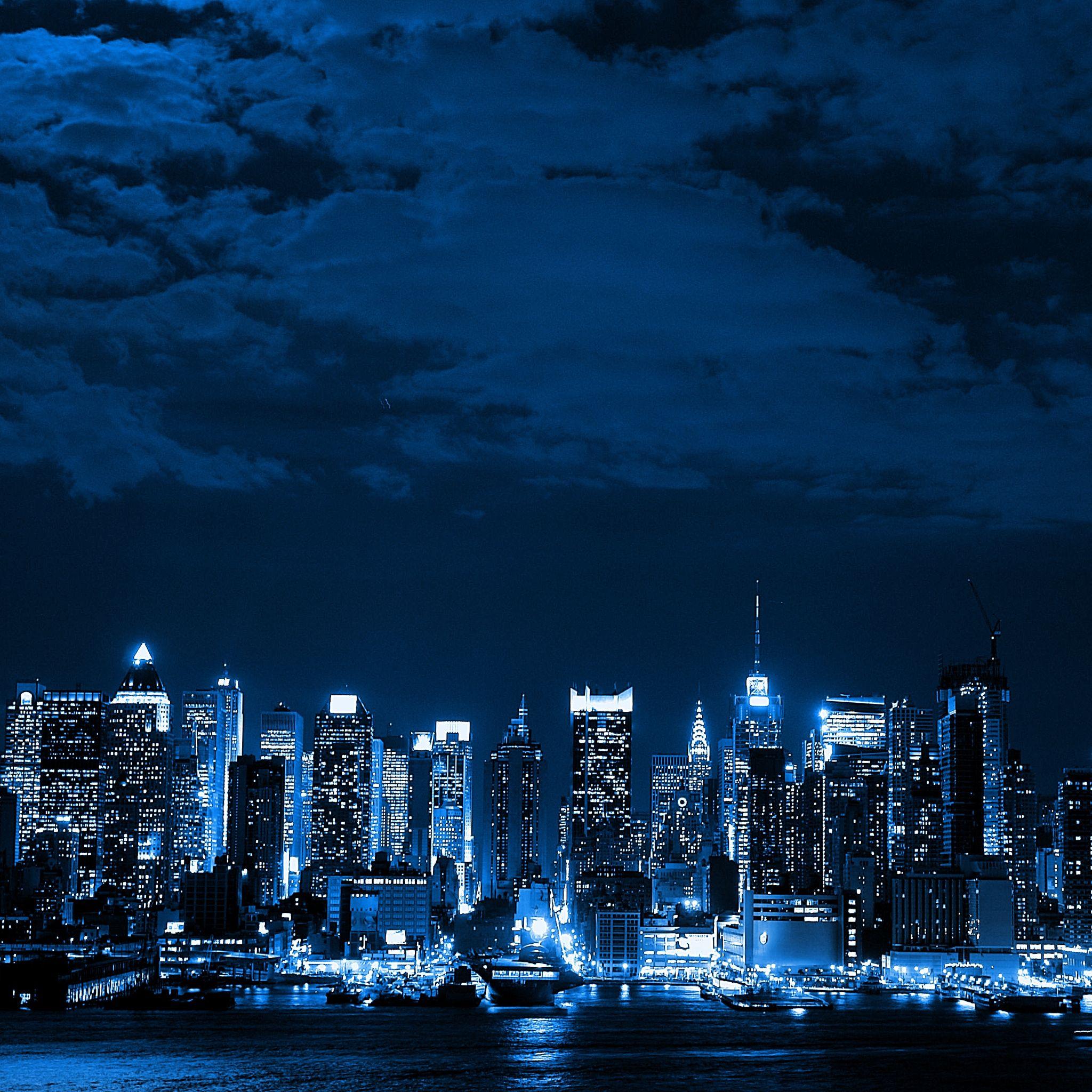Blue And Black City Cityscape Wallpaper City Wallpaper Skyline