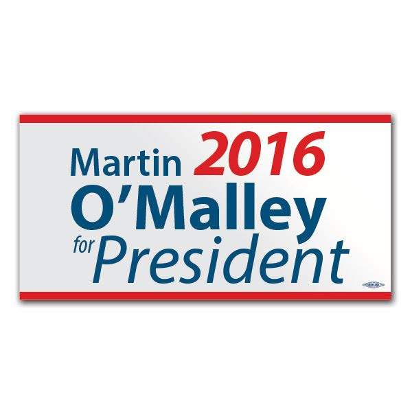 Martin omalley for president 2016 bumper sticker bs63194 democraticstuff com
