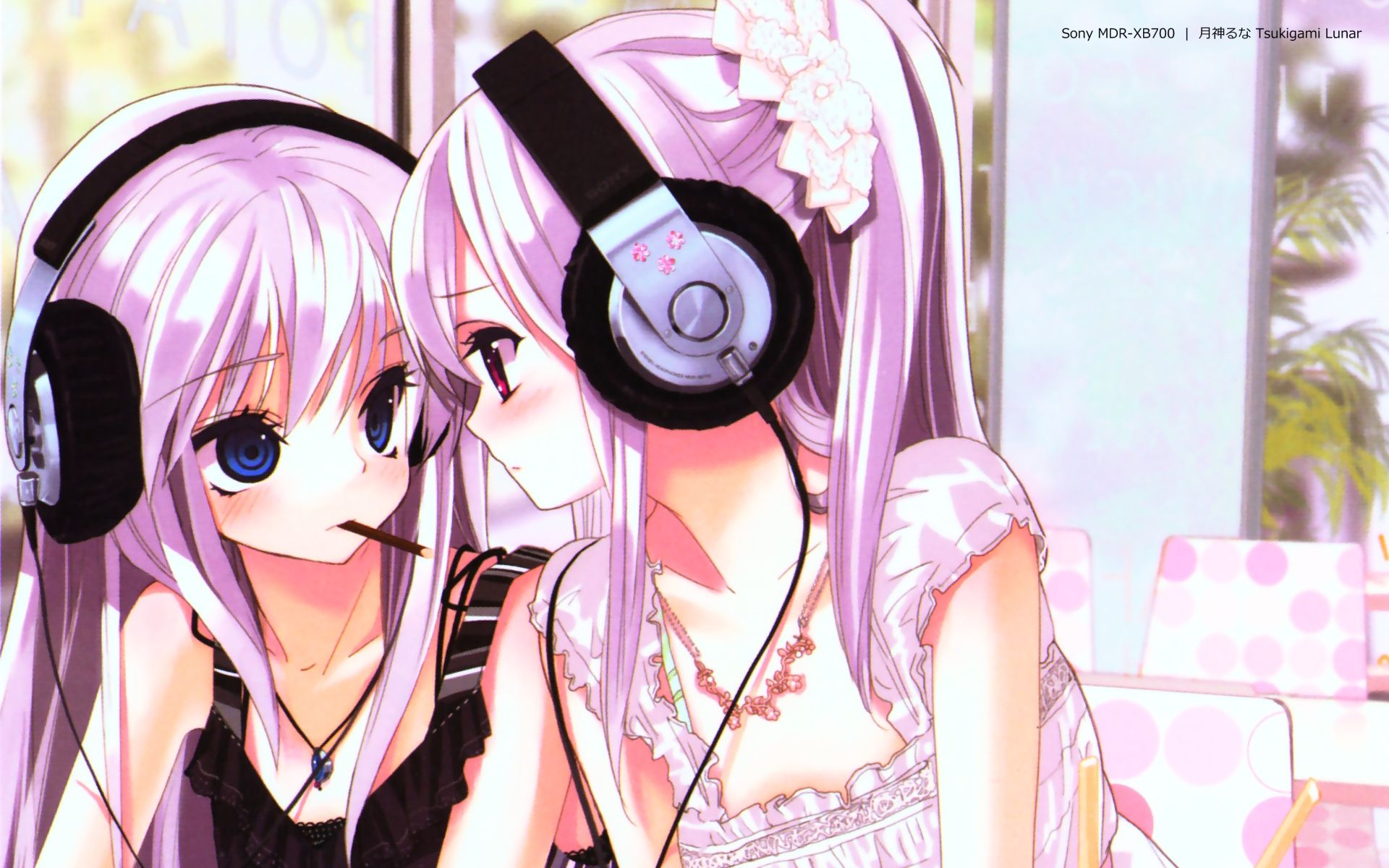 Anime headphones Wallpaper Music!) Pinterest