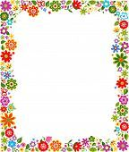 Floral Pattern Border Frame Floral Cute Frames Free Vector Art