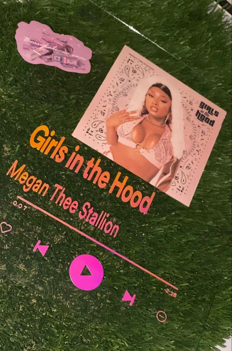 Megan Thee Stallion Music Plaque In 2020 Diy Resin Crafts Easy Diy Art Custom Album Covers