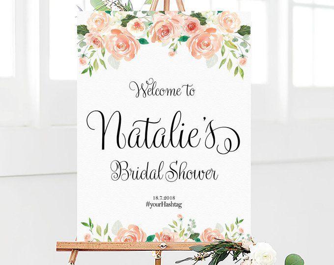 bridal shower sign bridal shower welcome sign bridal shower