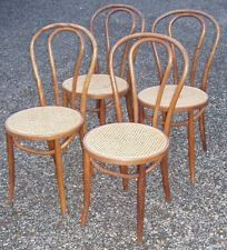 Set Of 4 Antique Thonet Bentwood Cane Seat Chairs   Ice Cream Parlor Cafe  Recane
