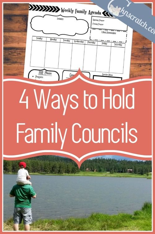 4 Ways to Hold Family Councils Church ideas - family agenda