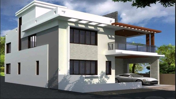 Beautiful Duplex House Designs Beautiful Duplex 2 Floors House Design Area 920m2 Click On This Best D House Roof Design Duplex House Design Simple House Design
