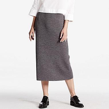 e9096afd276e19 WOMEN Merino Blend Ribbed Skirt | nederdel | Nederdel