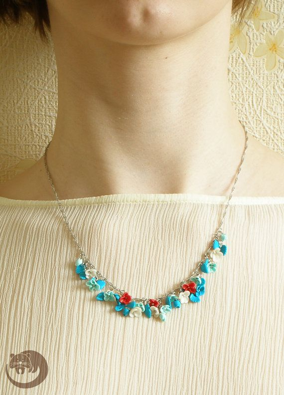 Sea Colors Jewelry Set Flower Jewelry Set by BinturongJewelry