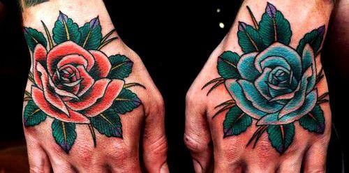 rose,hand,tattoos