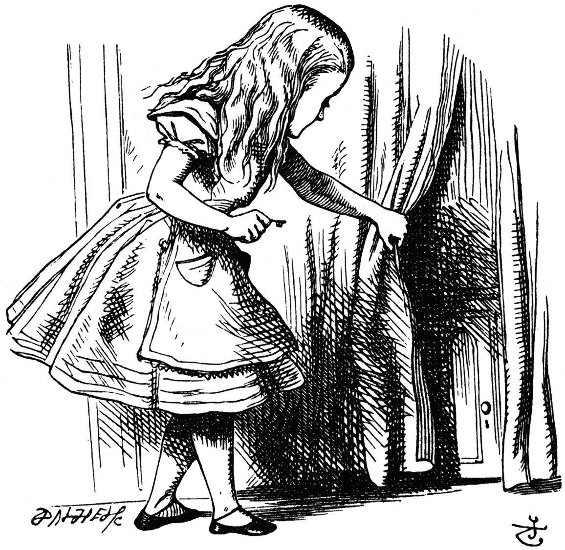 original illustrations from Alice's Adventures in Wonderland ...