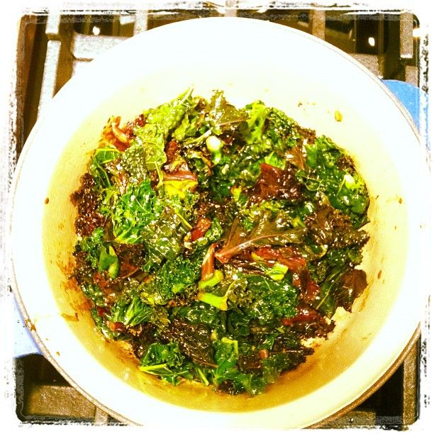 Did you know that if you saute kale with balsamic vinegar, the outcome is amazing?