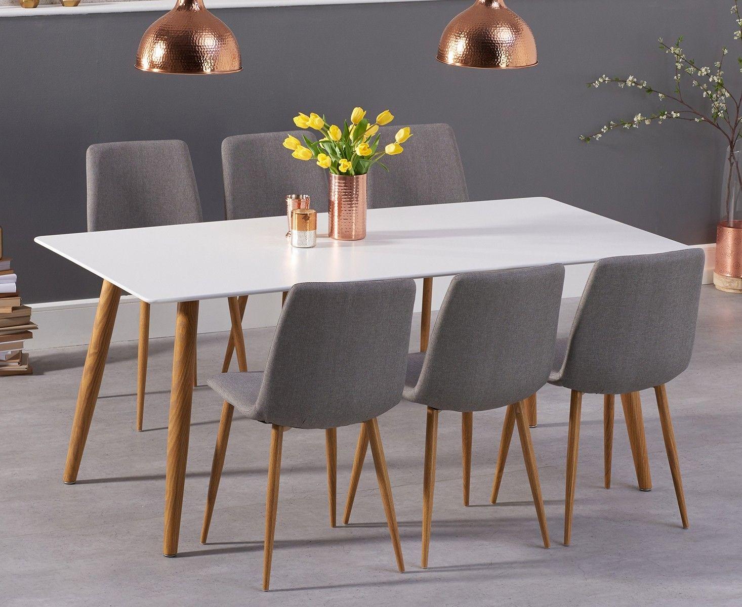 Malmo 180cm Matt White Dining Table