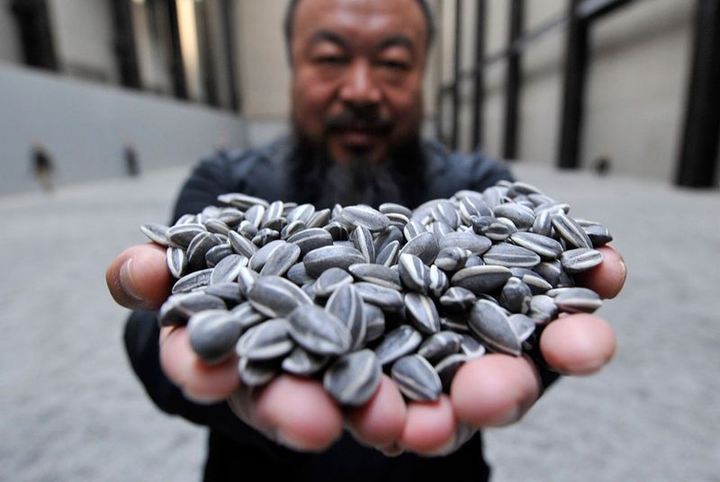 sunflower seeds ceramics from ai weiwei