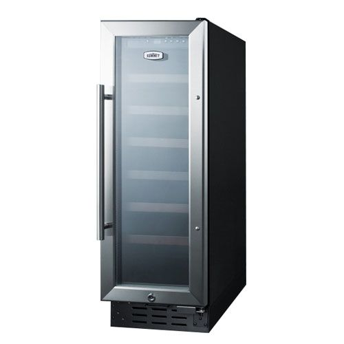 Summit 12 Inch Built In Wine Cellar Swc1224 Outdoor Kitchen Appliances Outdoor Kitchen Design Wine Fridge