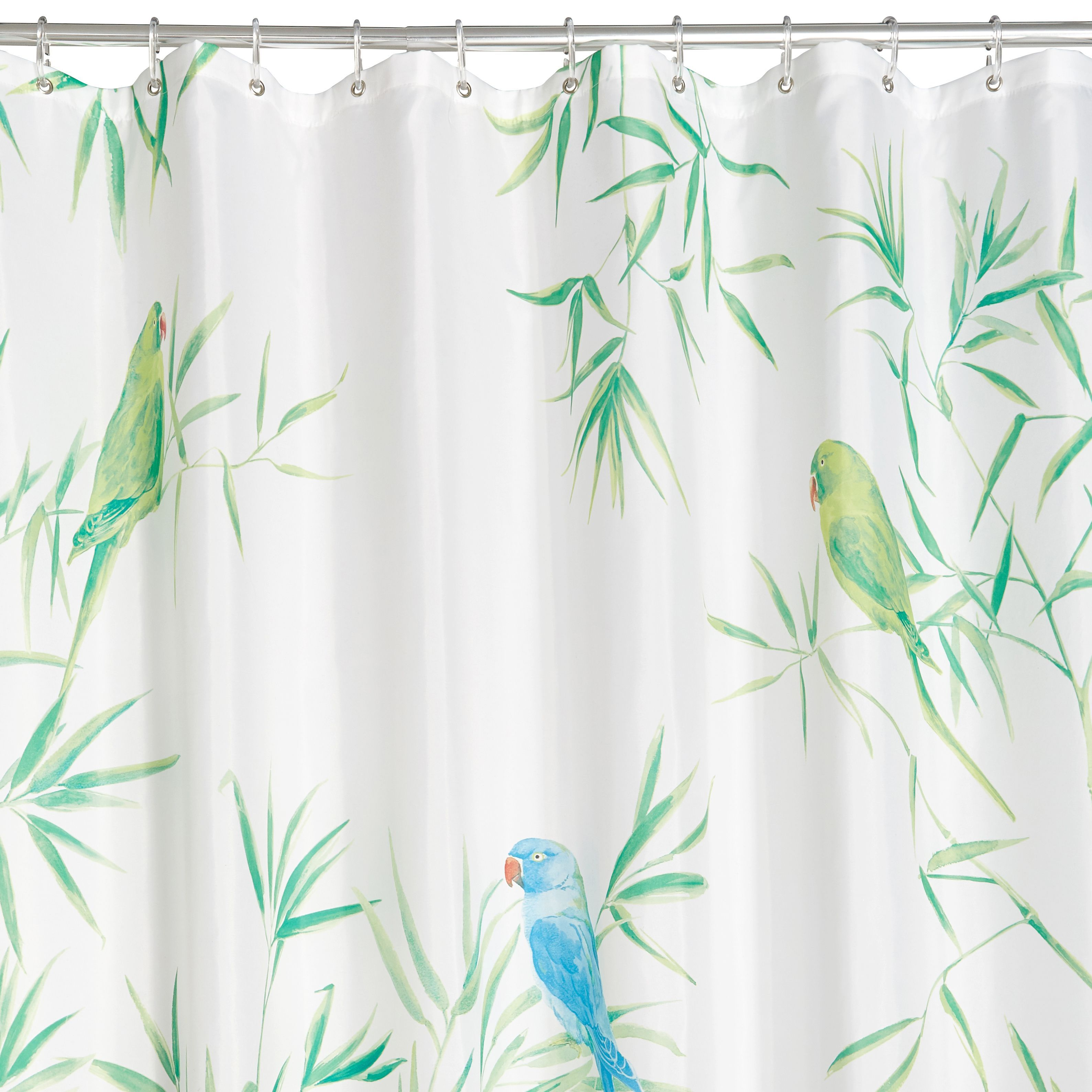 Multicolour Tropical Birds Shower Curtain L2000 Mm