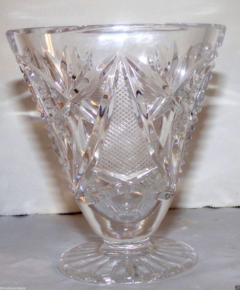 Vintage lead crystal bud vase triangle shape 35 tall vintage lead crystal bud vase triangle shape 35 tall reviewsmspy