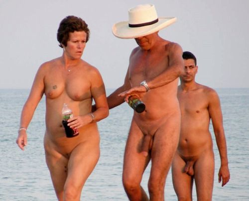 Mature nude beach couples