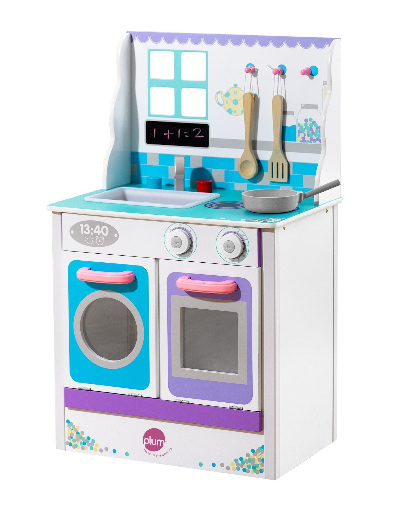 Plum® Chive CookaLot Kitchen Wooden play kitchen, Play