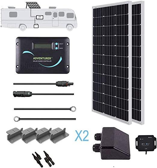 Amazon Com Renogy 200 Watts 12 Volts Monocrystallin Panel Solar Rv Kit 200w Garden Outdoor In 2020 Diy Electrical Solar Power Kits Solar Kit