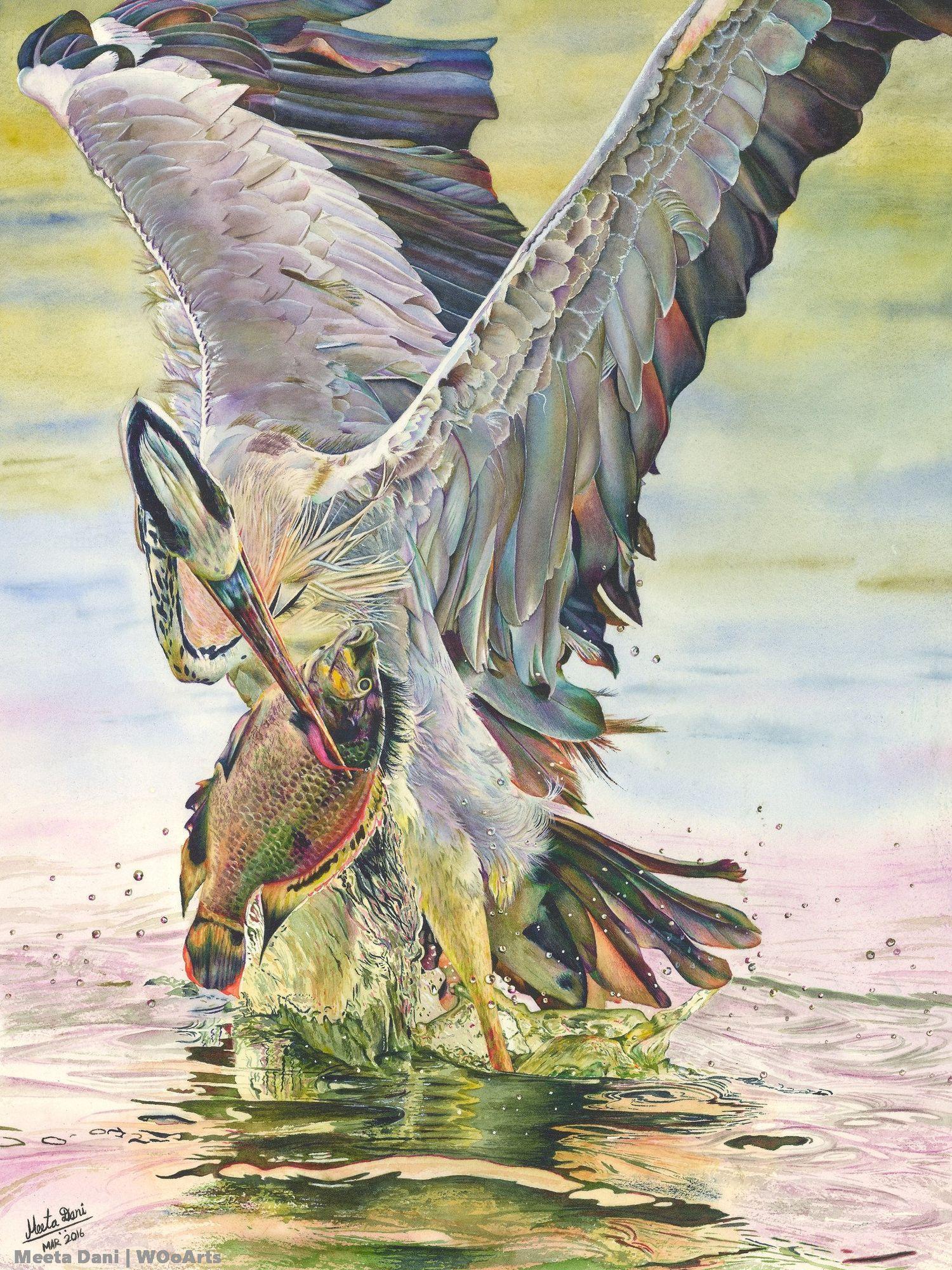 Meeta Dani Paintings Wooarts 11 Photorealism Watercolor Art