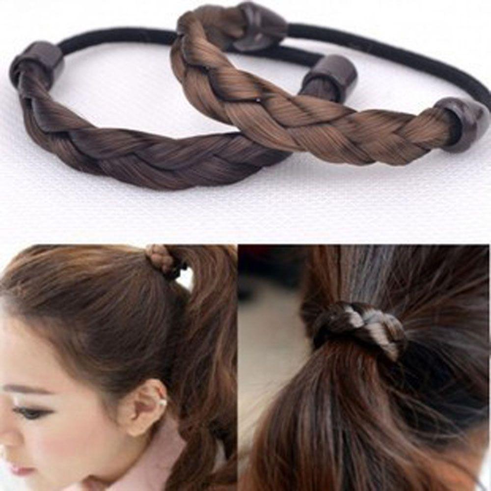 Woman Hair Piece Elastic Fake Hair Headband
