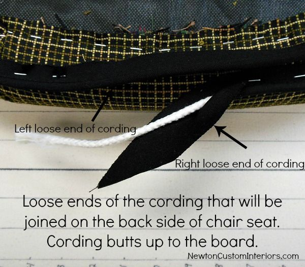 How To Recover A Chair Seat and add cording