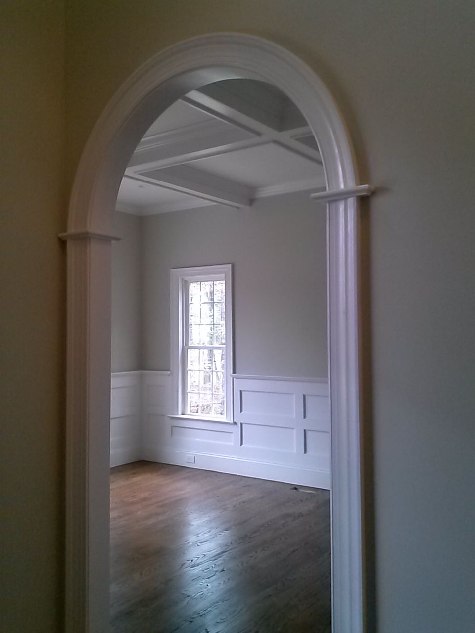 Coffered ceilings recessed panel wainscoting crown for Decorative archway mouldings