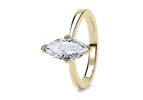 The Delicacy 4 Claw ring in Yellow Gold (18k) set with a Marquise 2.66ct J SI2 diamond.    Shop at www.77Diamonds.com
