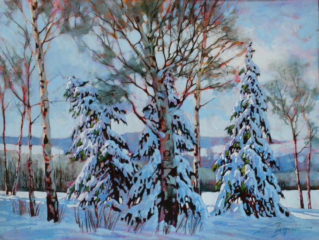 Birch trees in the winter stock photo image 2170700 - Hide And Seek 18x24 Ap