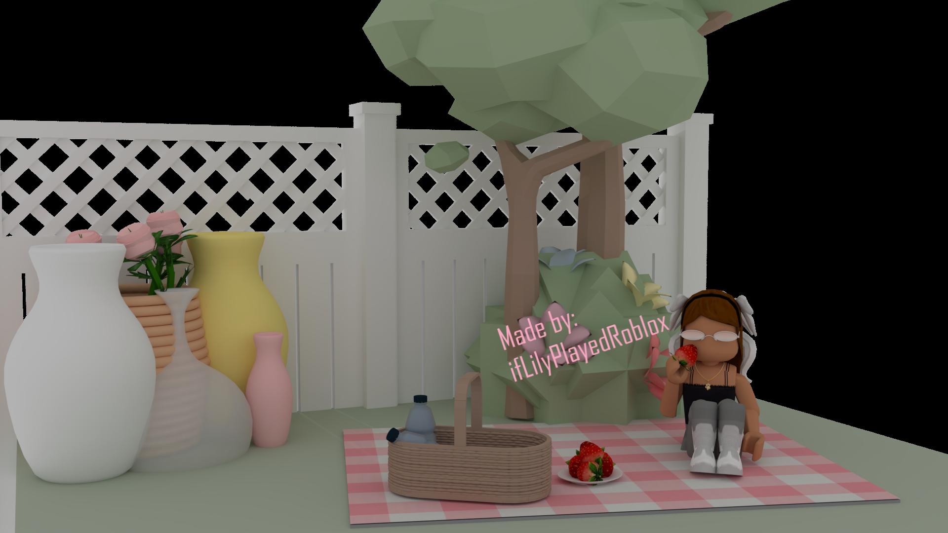 Roblox Gfx Cute Aesthetic Backyard In 2020 Cute Tumblr Wallpaper Roblox Roblox Pictures