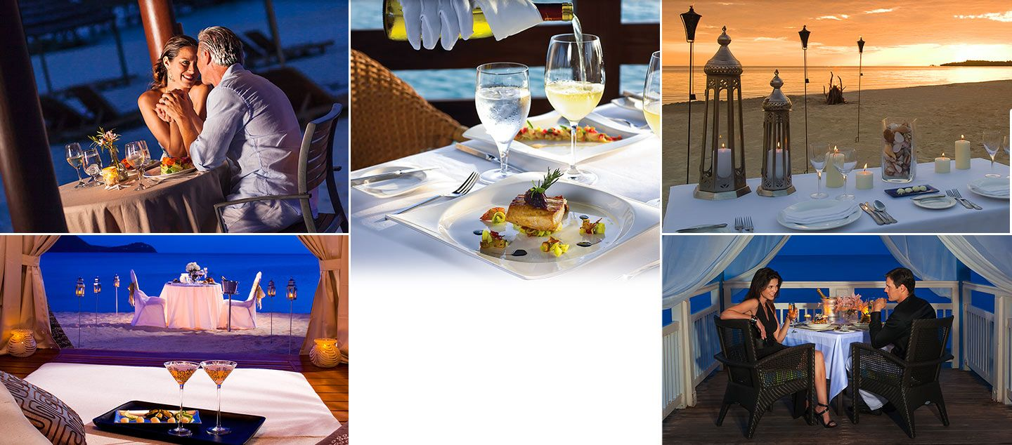 Enjoy romantic candlelight dinners when you visit Beaches Turks and Caicos. Distractions? None. | Beaches Resorts Honeymoons