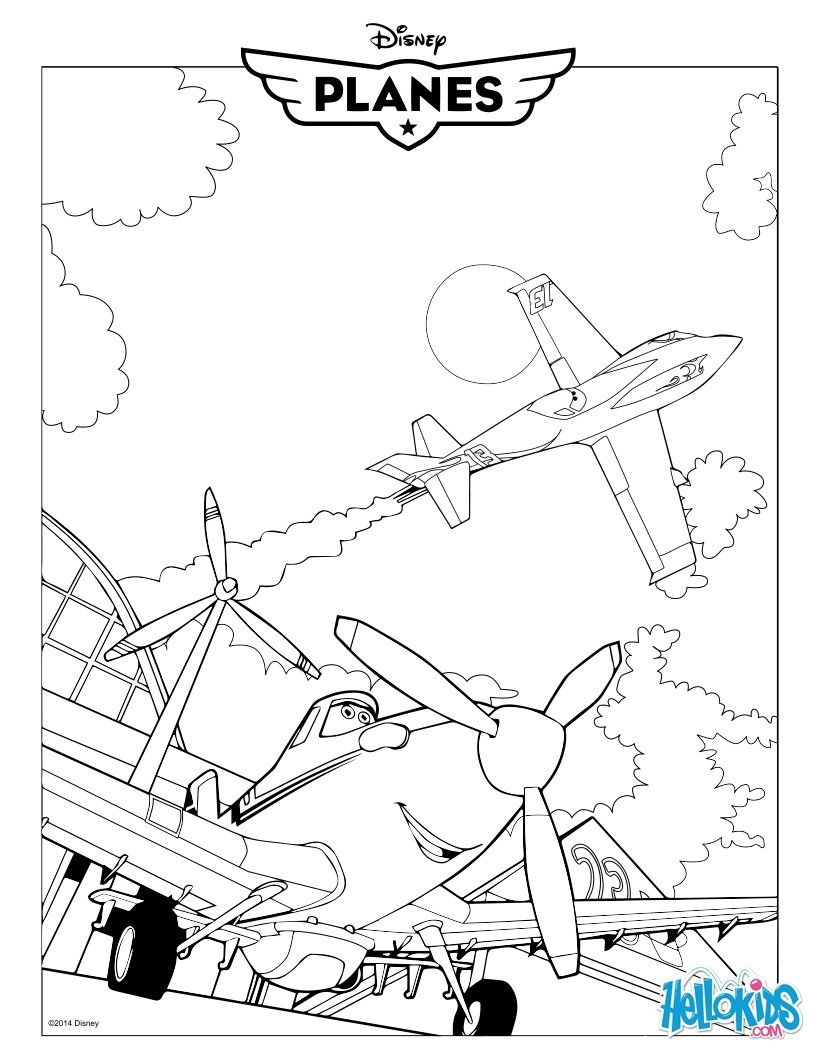 Dusty Crophopper Planes Movie Coloring Page Disney Coloring