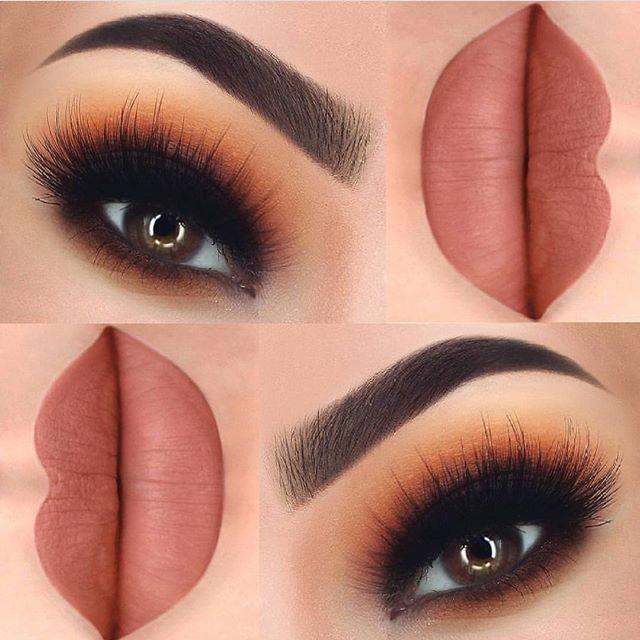 """@paulinemartyn wearing """"Amaretti"""" #velvetmatte lipstick for this flawless look ✨✨ - Eyeshadow makeup, Eye makeup, Makeup designs - 웹"""