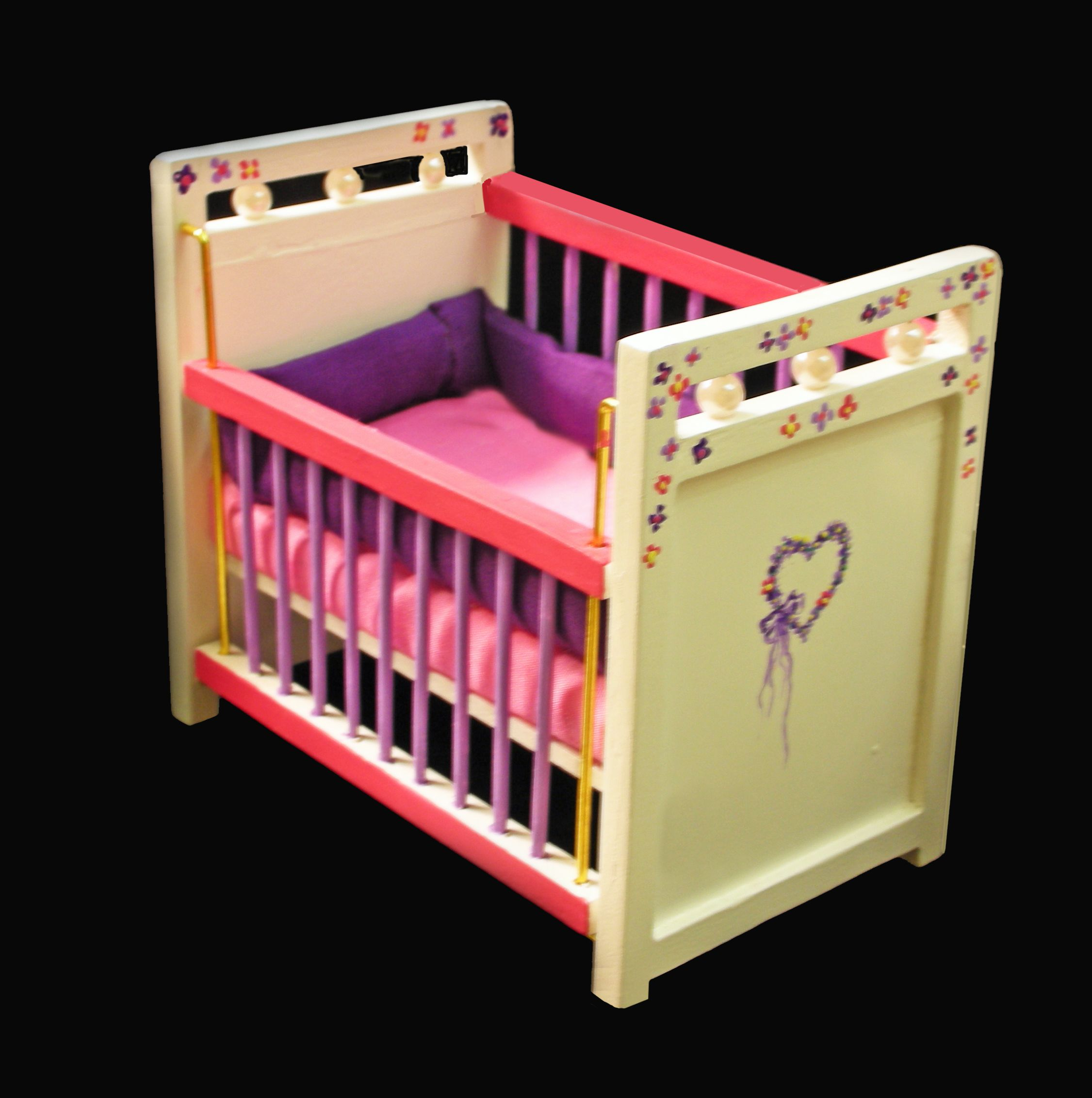 http marionsmerryminis com 1 scale miniature hand painted crib