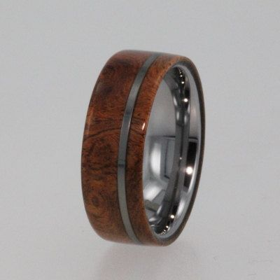 Tungsten Ring Wood Wedding Band Exotic Hard New1003