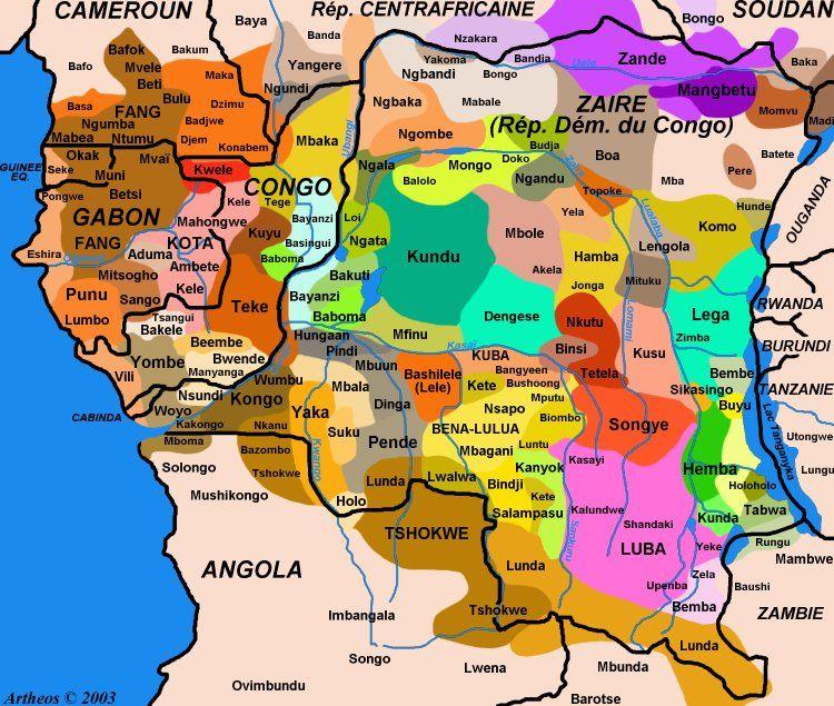 Congo ethnic groups areas  EthnoLangAfr  Pinterest  Congo
