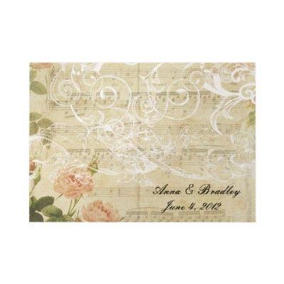 Victorian Vintage Wedding Invitation-charming antique style invitation. Pink, neutral, white.