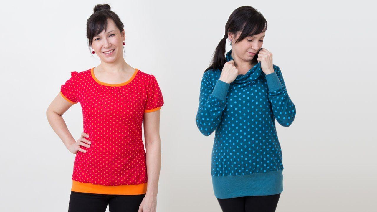 Shirt selber nähen - Rollkragen, Puffärmel, Bündchen - pattydoo ...