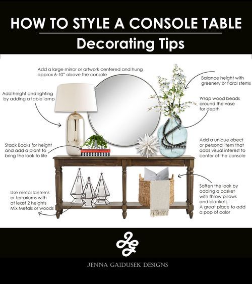 Photo of How to decorate a console table #decorate #a # console table