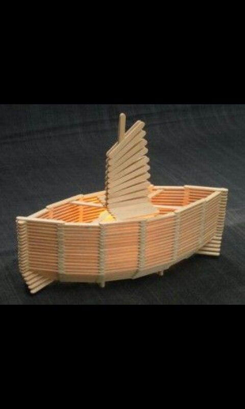 Ijsstokjes Boot Boats Popsicle Stick Crafts Popsicle