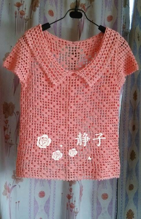 Blusa rosa | Crochet | Pinterest | Blusa rosa, Blusas y Ganchillo