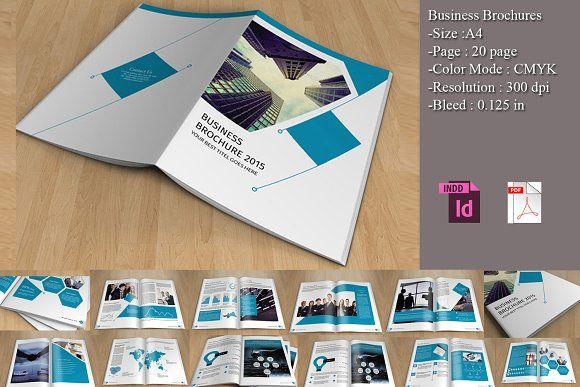 bifold business brochure v150 by template shop on creativemarket