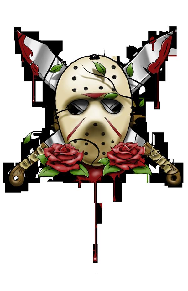 Jason Voorhees Mask Tattoo By Artisticrender On Deviantart Movie Tattoos Halloween Tattoos Horror Movie Tattoos
