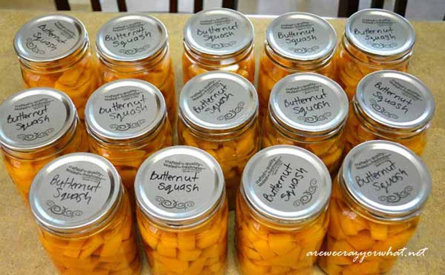 How to Can Butternut Squash Plus There's Pie Canning