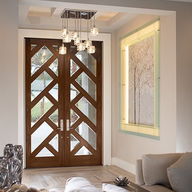 A Close Up Of The Custom Exterior French Doors On The New