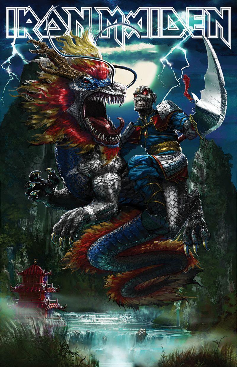 Artstation Iron Maiden China Tour Ryan Christensen Iron Maiden Eddie Iron Maiden Posters Iron Maiden Mascot